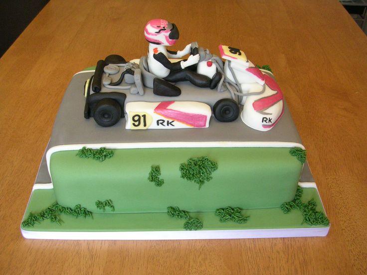 Go-kart birthday cake x www.facebook.com/fireflycakes
