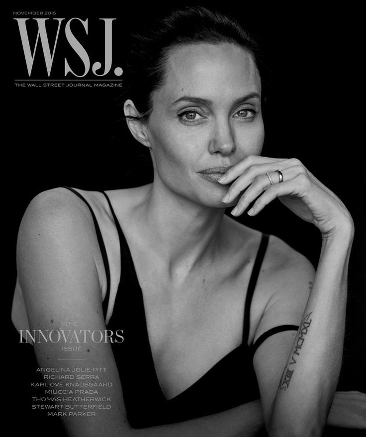 Angelina Jolie sans maquillage pour le WSJ.