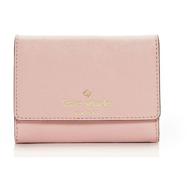 Kate Spade Cedar Street Darla ($62) ❤ liked on Polyvore featuring bags, wallets, kate spade wallet, long wallet, pink bag, holiday bags and evening bags