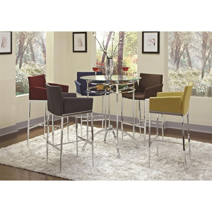 Coaster Furniture 120335 Modern Bar Height Table with Glass Top
