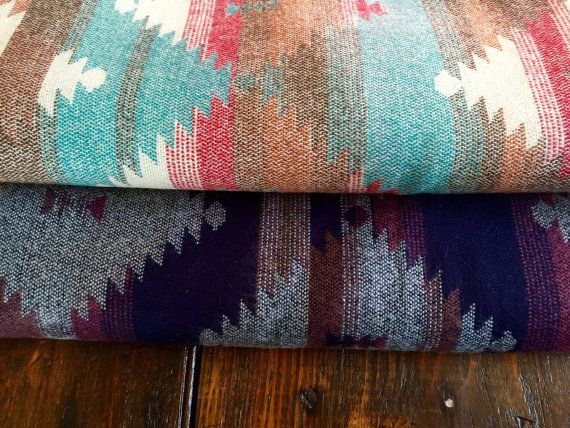 Rustic Southwestern Blanket with Raw Fringed Edges / by Weepeetz