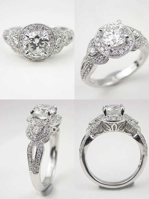 Timeless Beauty: Antique Style Engagement Rings from Topazery i like the metal work and the feminine detail