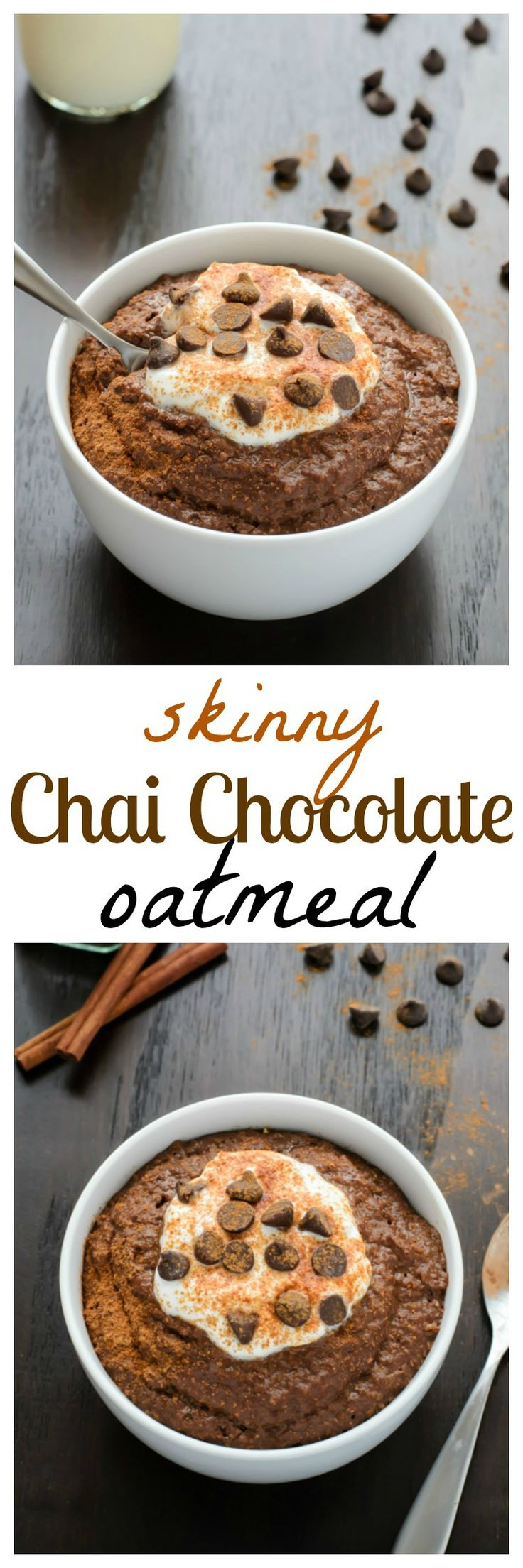 Chai Spice Chocolate Oatmeal. Decadent AND healthy. The best of both worlds! {paleo, vegan}