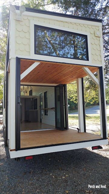 modern cozy tiny house on wheels tiny house tiny house trailer rh pinterest com
