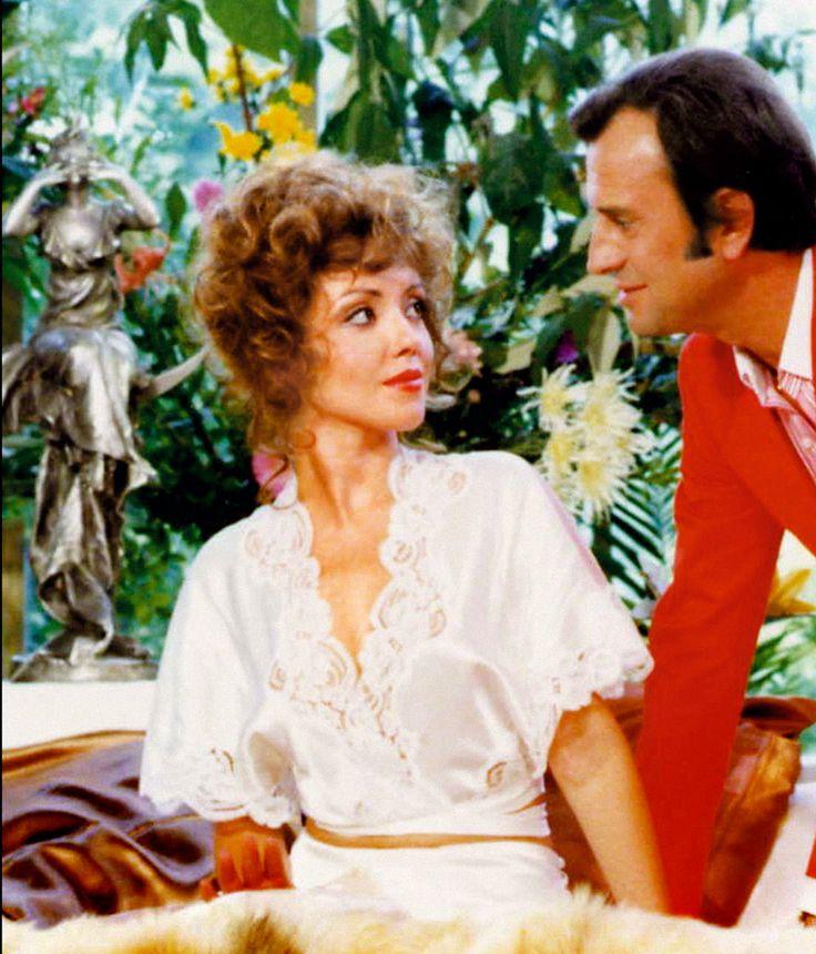 Corinne Le Poulain  & Georges Descrières dans la série Sam & Sally en 1978