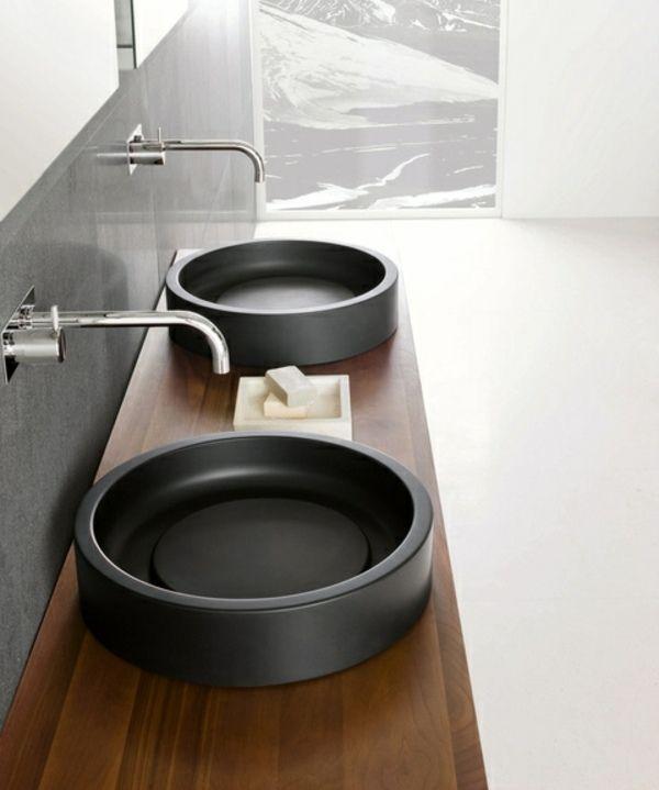 1000 id es sur le th me lavabos doubles sur pinterest for Lavabo a poser salle de bain