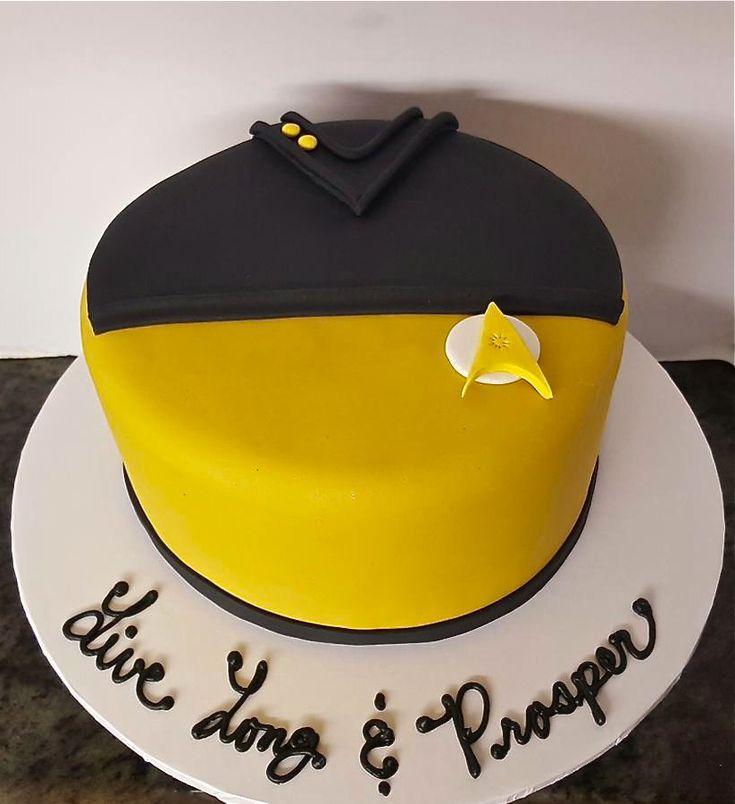 """""""Star Trek Cake""""                                                                                                                                                     More"""