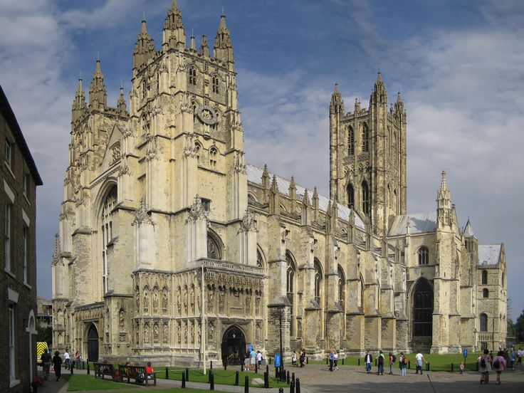 Canterbury Cathedral in Canterbury, Kent, is one of the oldest and most famous Christian structures in England and forms part of a World Heritage Site.