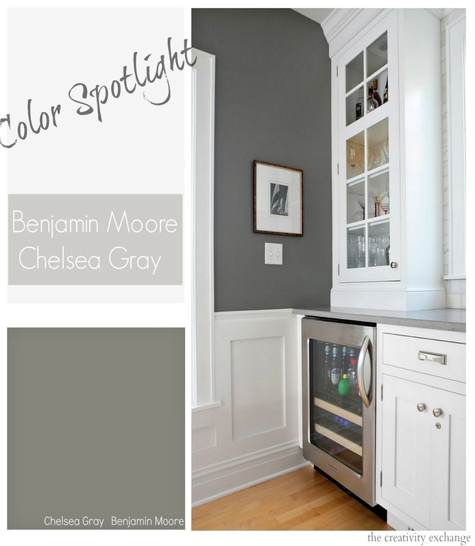 877 best images about colors gray on pinterest for Benjamin moore chelsea gray paint