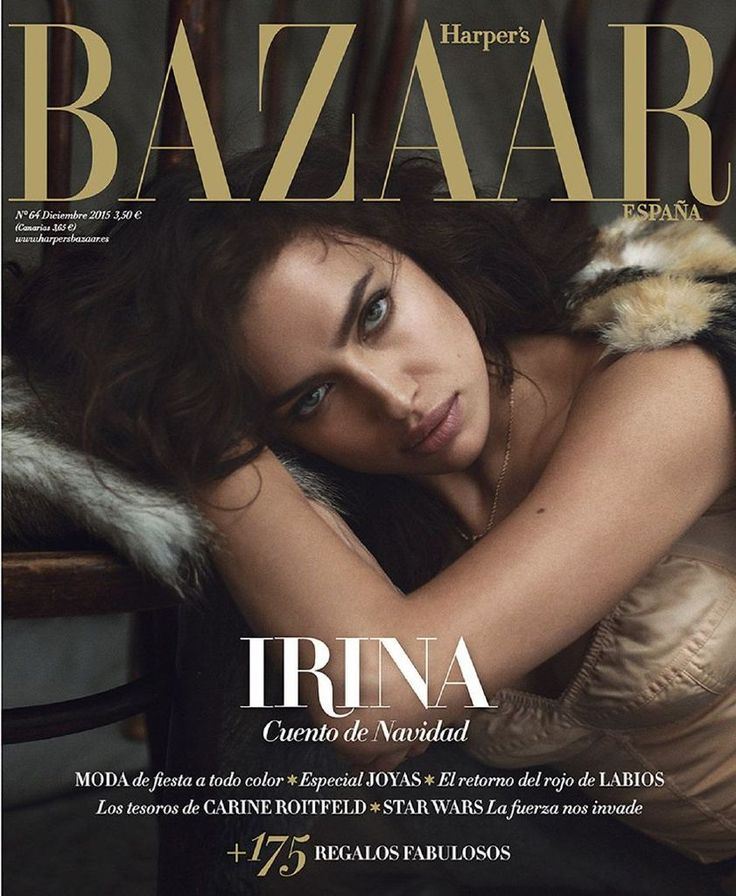 Irina Shayk – Harper's Bazaar Spain Magazine, Dec 2015 : Global Celebrtities (F) FunFunky.com