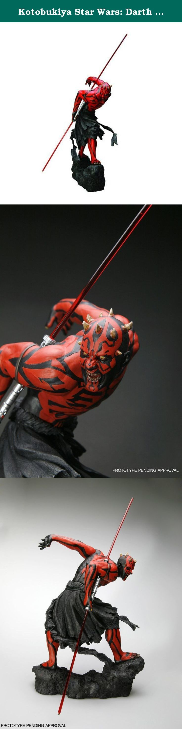 Kotobukiya Star Wars: Darth Maul Light Up ArtFX Statue. A Kotobukiya Japanese import. The 1/7th scale Star Wars ArtFX series is back, and it's back in a big way. Beginning an all new line of great heroes and villains from the Star Wars universe is the Sith master of the double-bladed lightsaber, Darth Maul. Appearing in Episode I - A Phantom Menace, Maul, an alien Zabrak, was the first member of the Sith to act openly in recorded history, ruthlessly attacking the Jedi Qui-Gon Jinn and...