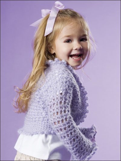 Girls Crochet Shrug Sweater Crochet Amp Knitting Crochet