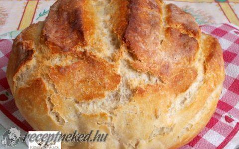 Hűtőben kelt házi kenyér recept fotóval