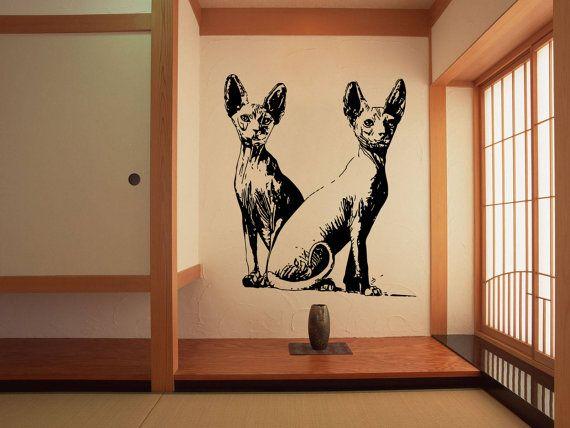 #Sphynx #Katze #Rasse Katze #Kitten Haustier Tier Kitty Moggy Feline Puss Pussy #Pussycat Mouser süß flaumig mürrisch #Wand #Aufkleber Decal 3564