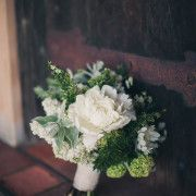 Beautiful white and green bridal bouquet by Holly Flora in LA.