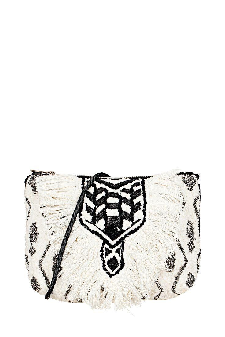 Pochette perlée Tam Blanc Antik Batik sur MonShowroom.com