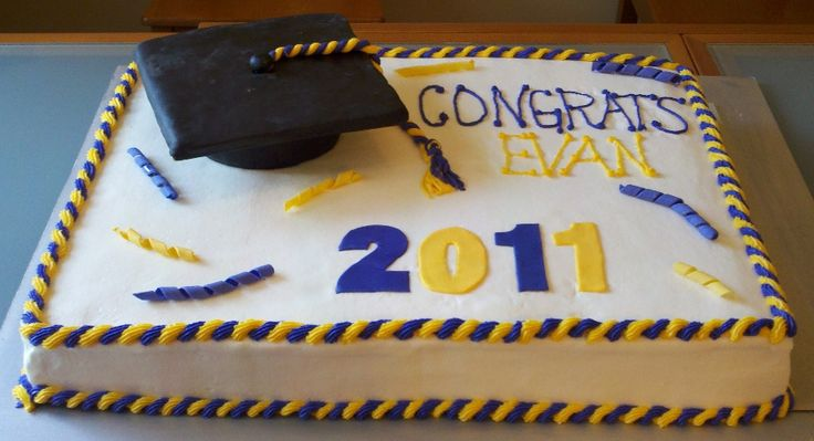 Graduation Cake - Full Sheet Cake - Cake Decorating Community ...
