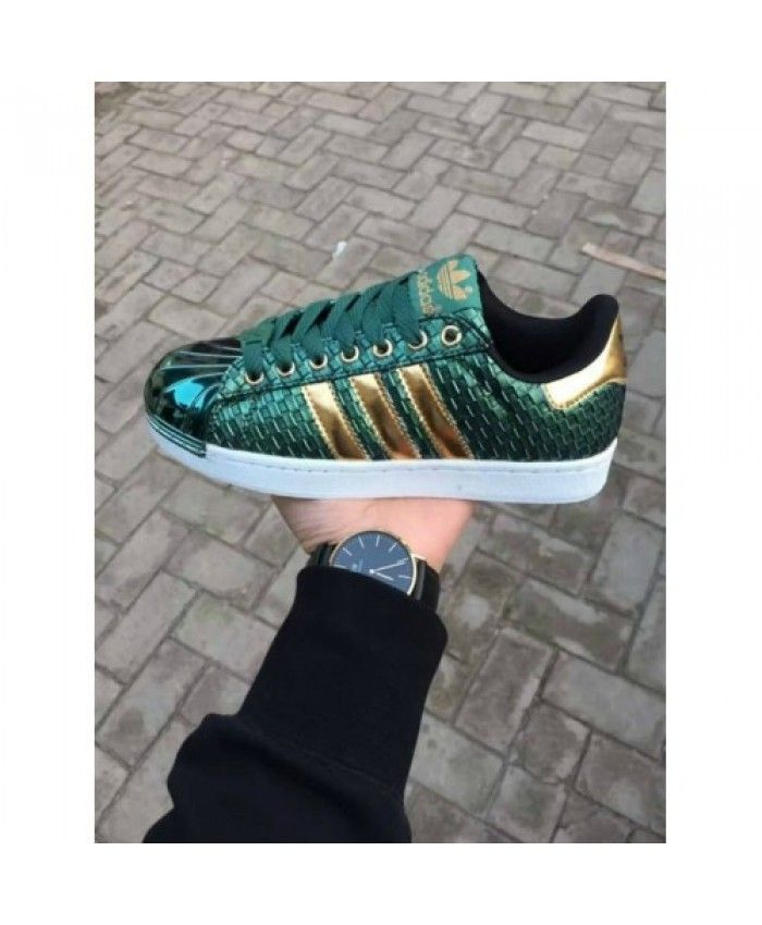 b4457060ed8 Cheap Adidas Superstar Holographic Green Gold Shoes | adidas womens ...