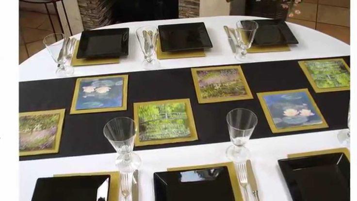 Tischdeko Monet-Ausstellung