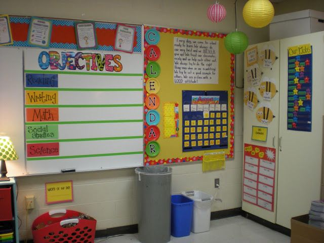 Cute classroom ideas - Love the different colored paper plates around the classroom!