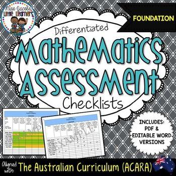 Australian Curriculum Mathematics Assessment Checklists: F