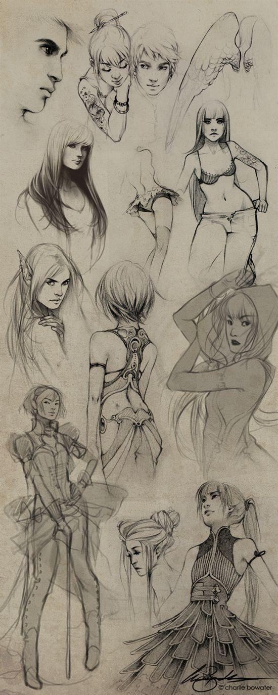 Sketches VIII by Charlie-Bowater.deviantart.com on @deviantART
