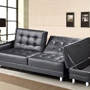 Sofa Beds New Contemporary Modern Knightsbridge Faux Leather Storage Ottoman Fold Down Sofa Bed In Black Red