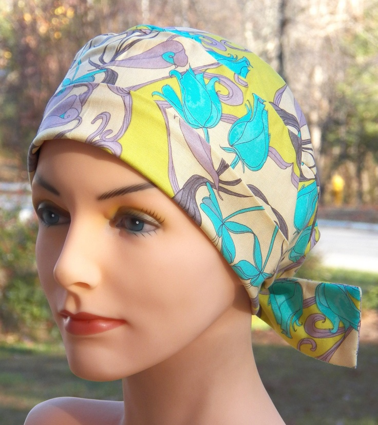 Scrub Hat or Chemo Cap- The Mini- Winter Landscape