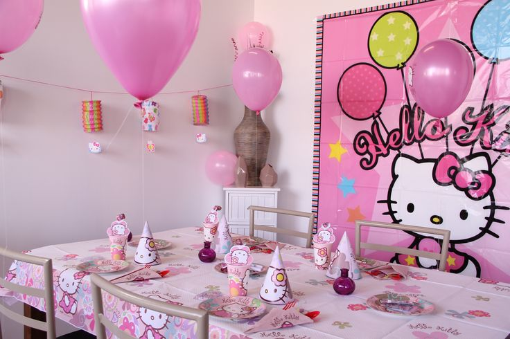 déco de table Hello Kitty