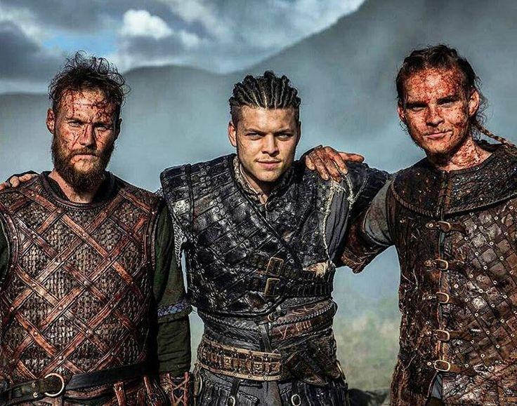 My husbands great ancestor is in the middle (I know, it's an actor, not his ACTUAL ancestor) Ivar the Boneless.