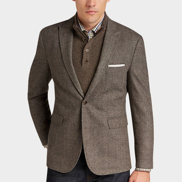 Buy a Joseph Abboud Tan & Black Herringbone  Casual Coat online at Men's Wearhouse. See the latest styles of men's Casual Coats. FREE Shipping on orders $99+.