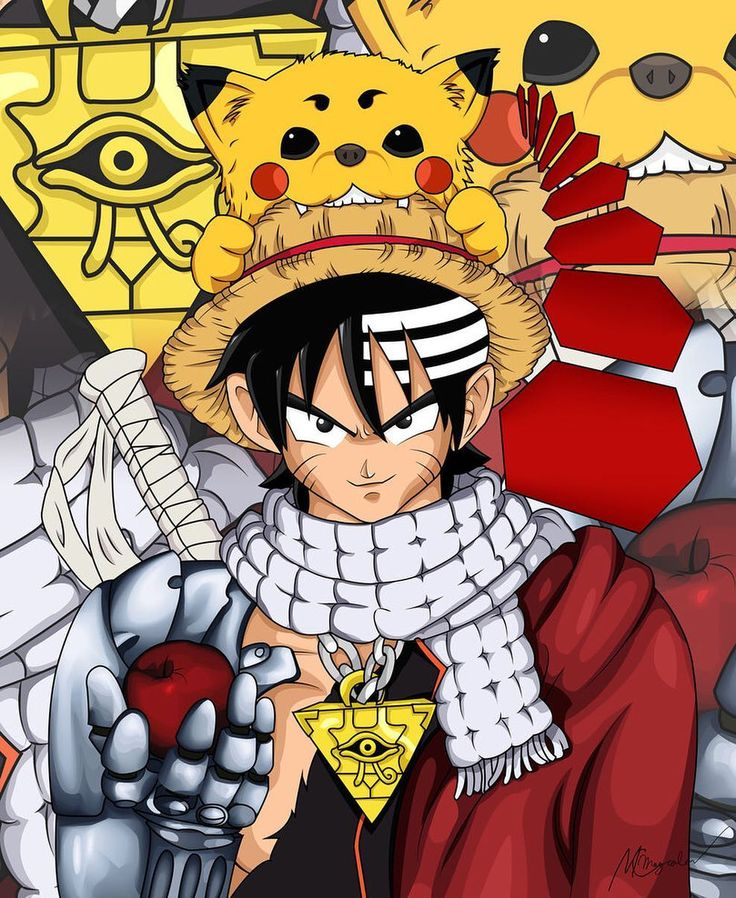 Challenge: Name As Much Anime Challenge Accepted -> Whole Body - Goku (Dragonball Z) Whiskers - Naruto (Naruto) Hair - Death the Kid (Soul Eater) & Goku (Dragonball Z) Hat - Luffy (One Piece) Pet - Sadaharu (Gintama) & Pikachu (Pokemon) Scarf - Natsu (Fairy Tail) Necklace - Yugi (Yu-Gi-Oh!) Suit - Yoh (Shaman King) Arm & Cape - Edward (Fullmetal Alchemist)  Sword - Zangetsu (Bleach) Apple (Death Note) Deadman Wonderland  #kushinauzumaki #kushina #minatonamikaze #minato #naruto #shippuden…