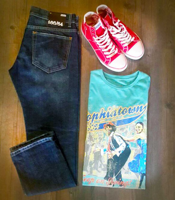 Casual Friday - Look and feel good in 466/64 #tees #denims and #sneakers....wear with pride!