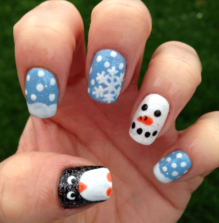 Penguin Nail Art Designs: 17+ Best Ideas About Christmas Gel Nails On Pinterest