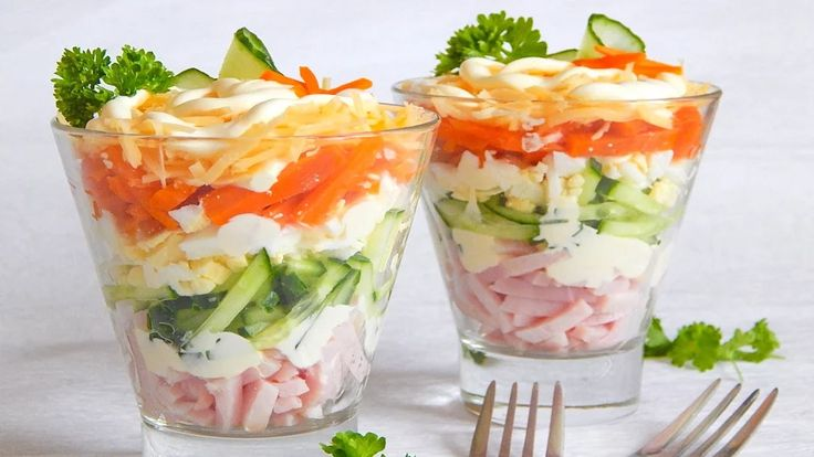 Простые и легкие рецепты вкусных салатов