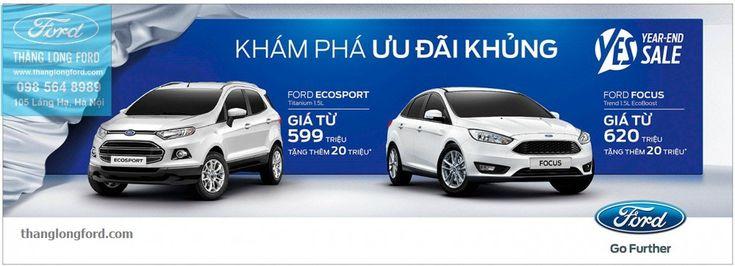 Ford EcoSport, Ford Fiesta,  Ford Focus khuyến mại khủng cuối năm