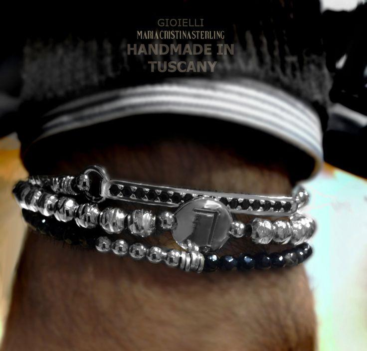 Maria Cristina Sterling gioielli moda bracciali uomo argento