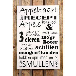 label appeltaartrecept | Appeltaart recept - Versierendoejezo! webwinkel