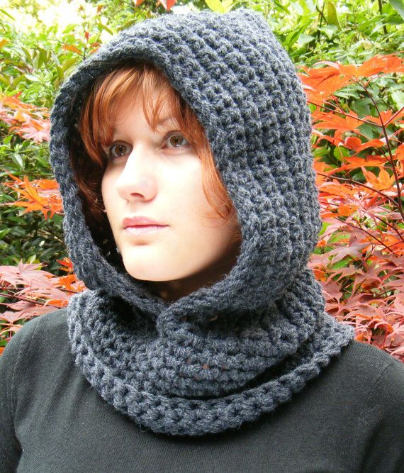 Crochet Hooded Cowl: May need one of these next winter as it was -20 at night up here.