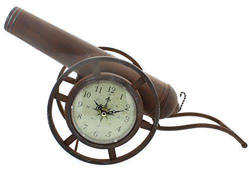 Unique Brown Cannon Arabic Dial Mantel Clock By Haysom Interiors  #Arabic #Brown+ #Cannon #Clock #Dial #Haysom #Interiors #Mantel #RusticMantelClock #Unique The Rustic Clock