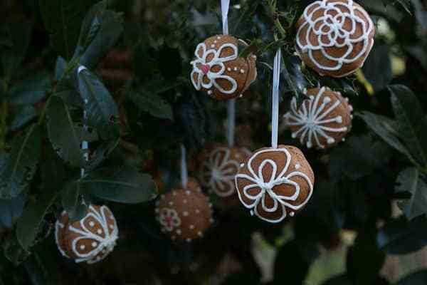 Lebkuchen Christbaumkugeln