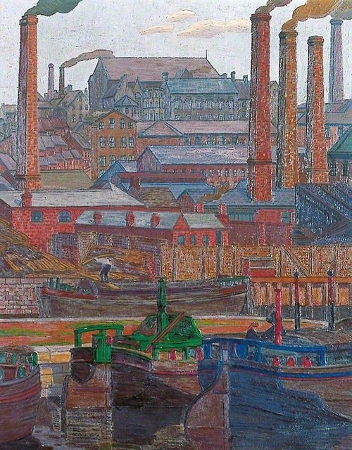 Charles Ginner - Leeds Canal, 1914