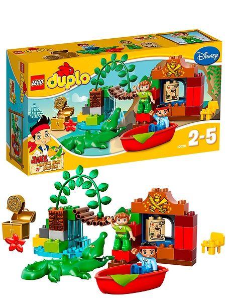 Lego Duplo, Jake ja Mikä-mikä-maan merirosvot (Peter Panin vierailu) Lähde Jaken ja Peter Panin kanssa jännittävään seikkailuun Mikä-mikä-maahan! Etsi aarre kartan avulla ja työnnä vene vesille, mutta varo tikittävää krokotiilia… 2–5-vuotiaille. Tuotenro 10526.