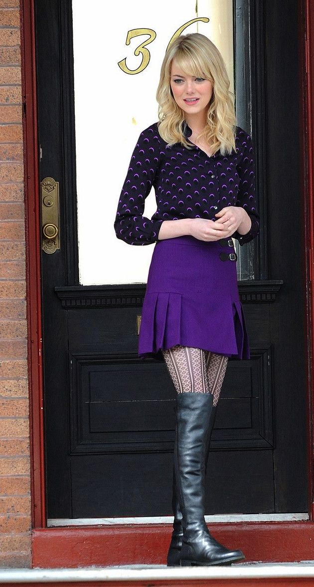 Love the purple outfit!