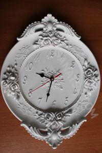 Yeni Model Güllü Saat ( Saat Mekanizması Dahil ) Polyester Obje