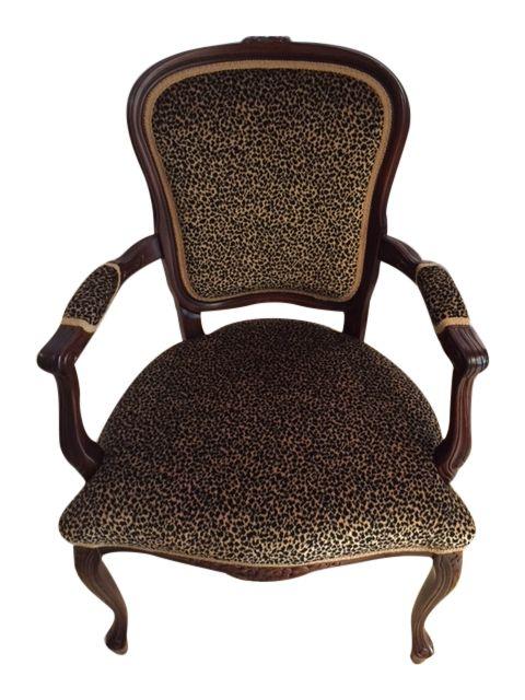 Leopard Print Arm Chair | Leopard chair, Chair, Leather ...