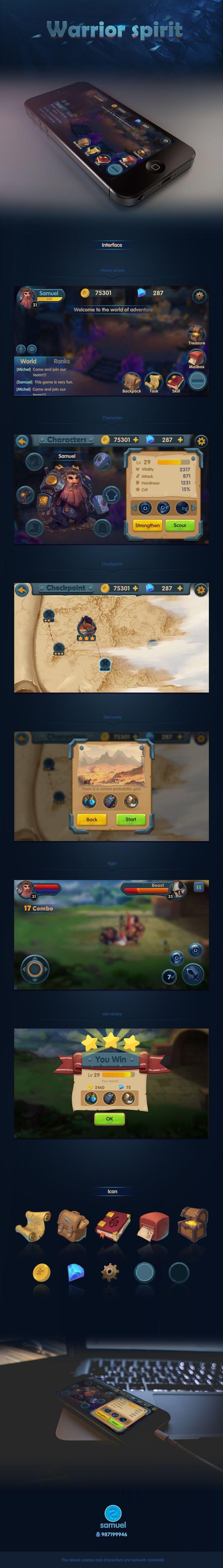 查看《Warrior spirit原创游戏UI作品》原图,原图尺寸:1264x8900