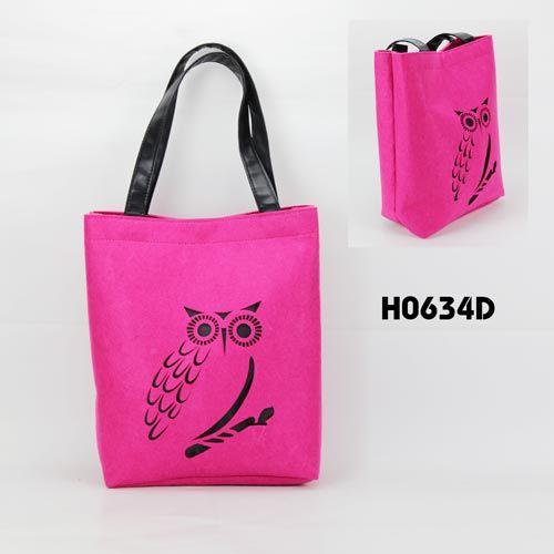 owl pattern felt# tote bag# or #felt shopping bag#, do you like it ?