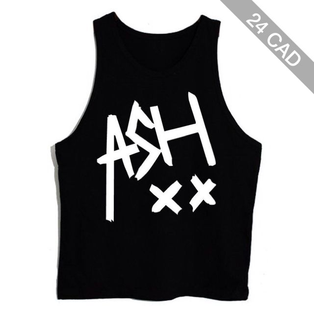 Amazon.com: New T-shirt-00 ASH XX 5 Seconds of Summer Ashton Irwin Unisex Tank Top Vest Sleeveless Tee (L,BLACK): Clothing