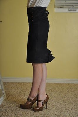 Tutorial for Refashioning a Skirt to a Pencil Skirt